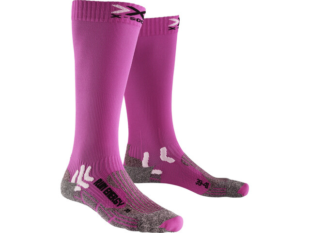 X-Socks Run Energizer Chaussettes Femme, pink